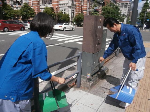 ビル周辺清掃活動
